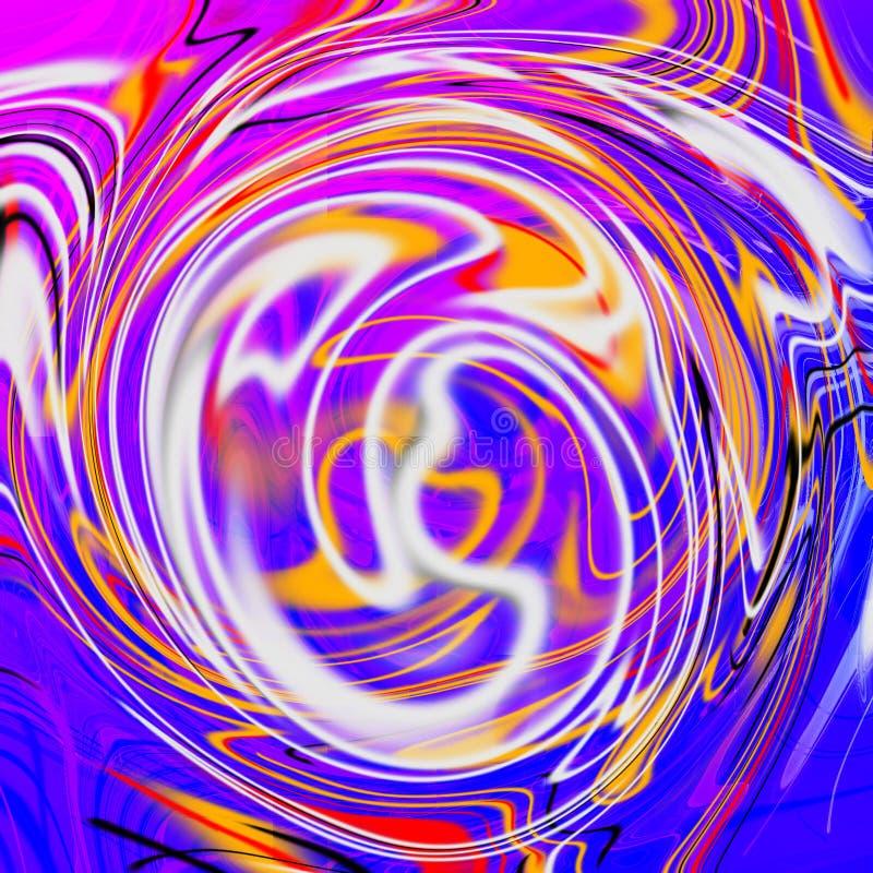 Marmeren vloeibare abstracte achtergrond met olieverfschilderijstroken stock illustratie