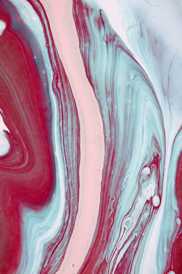 marmering Marmeren textuur De plons van de verf Kleurrijke vloeistof Samenvatting gekleurde achtergrond De illustratie van de roo royalty-vrije stock foto's
