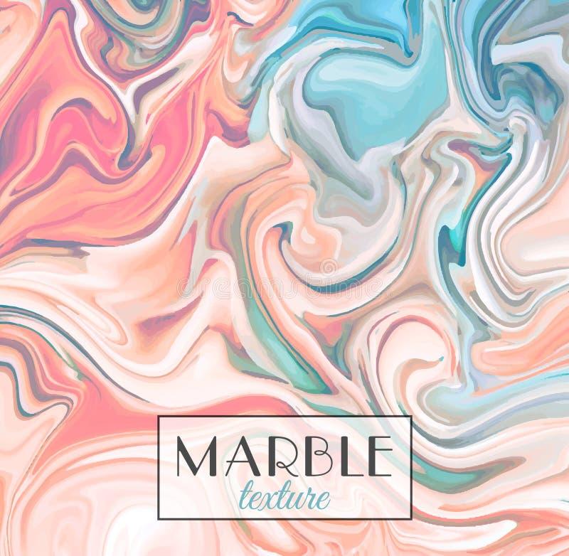 marmering Marmeren textuur Vector abstracte kleurrijke achtergrond De plons van de verf royalty-vrije stock afbeelding