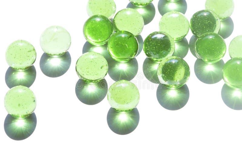 Marmi di vetro verde fotografia stock libera da diritti