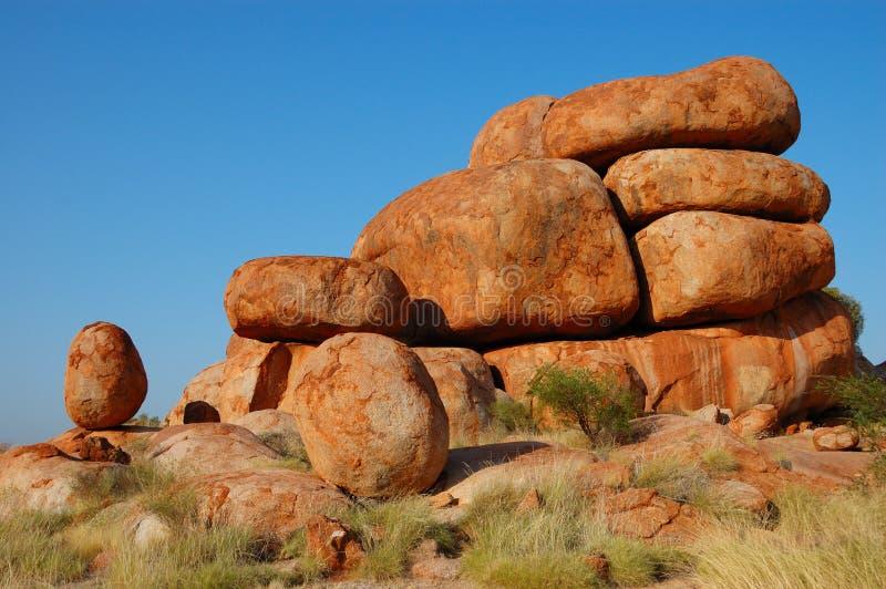 Marmo del diavolo, Australia outback immagine stock libera da diritti