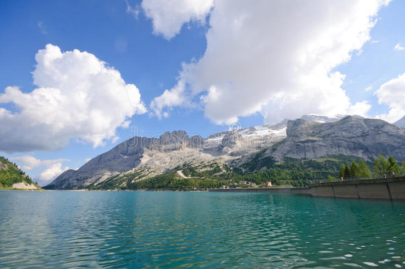 Download Marmolada And Dam - Dolomites, Italy Royalty Free Stock Photography - Image: 16771017