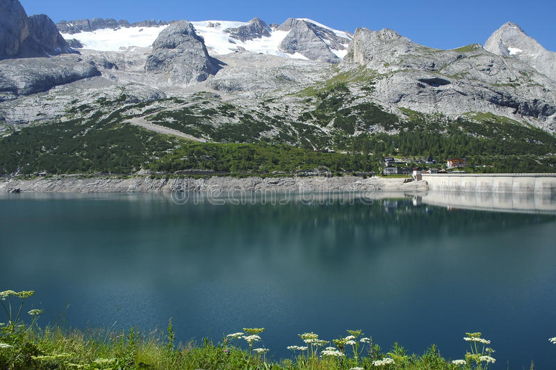 Marmolada, Dolomiet stock foto