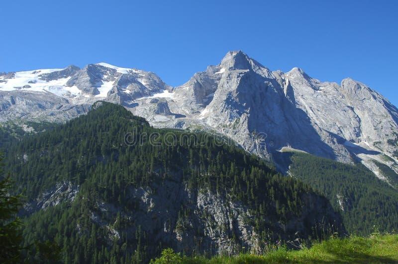 Marmolada, Dolomiet royalty-vrije stock afbeeldingen
