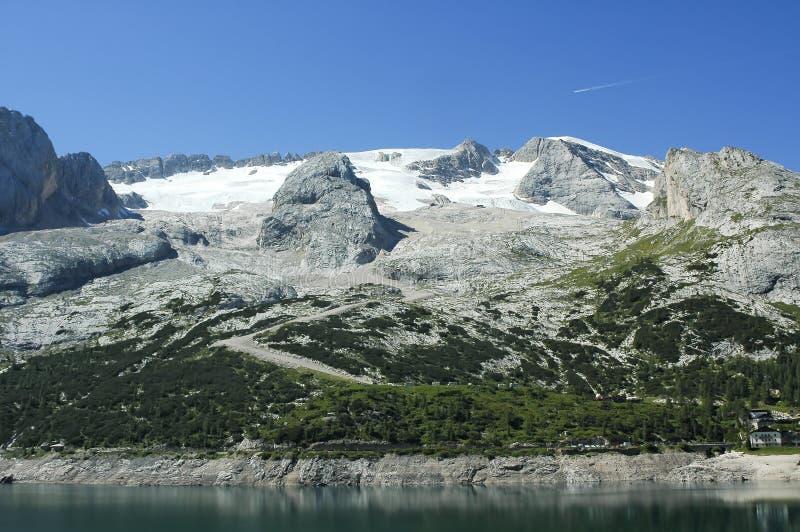 Marmolada, Dolomiet stock afbeelding