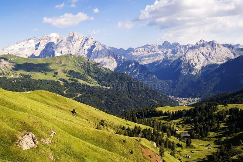 Marmolada en het Dolomiet royalty-vrije stock afbeelding