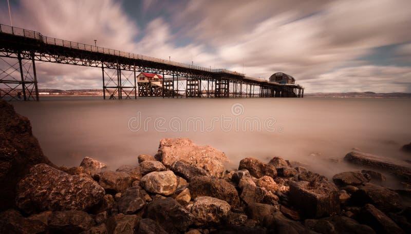 Marmonne le pilier Swansea image stock