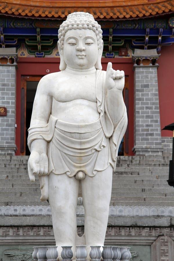 Marmor Buddha royaltyfri bild