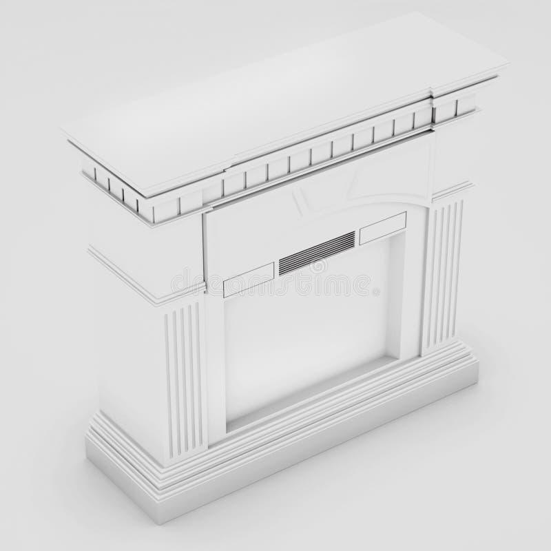 Marmor-, klassischer Kamin 3d übertragen stock abbildung