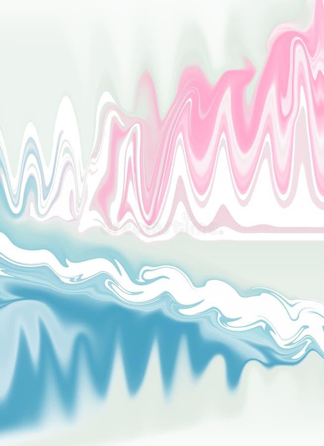 Marmor, schöner, subtiler Hintergrund in den Pastellfarben, Weiß, Rosa und Blau vektor abbildung