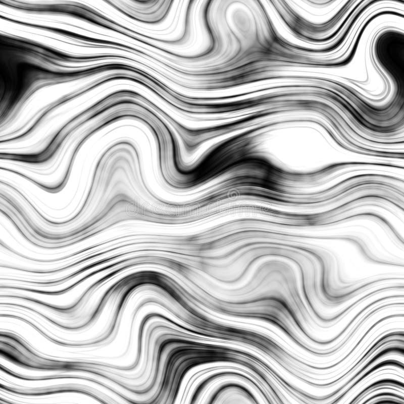 Marmor - Schwarzes, weiß- nahtloser Hintergrund stock abbildung