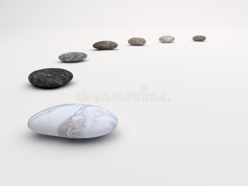 Marmor stenar banavitbakgrund arkivbilder