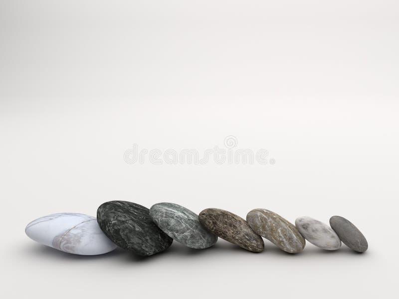 Marmor stenar vit bakgrund arkivfoton