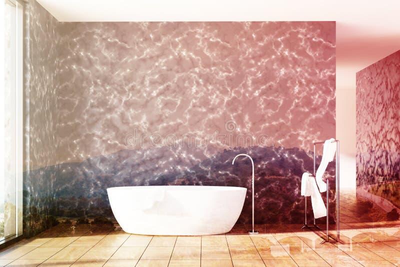 Marmorbadrummet, vit badar dubbelt vektor illustrationer