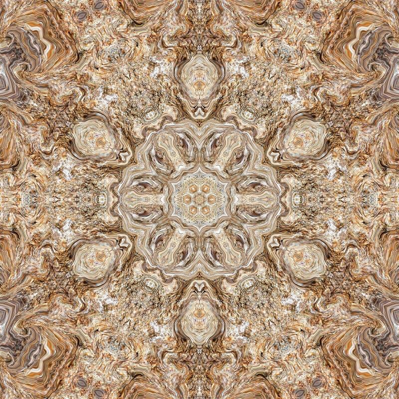 Marmorbeschaffenheitsgranit-Kaleidoskopzusammenfassung symmetrie vektor abbildung