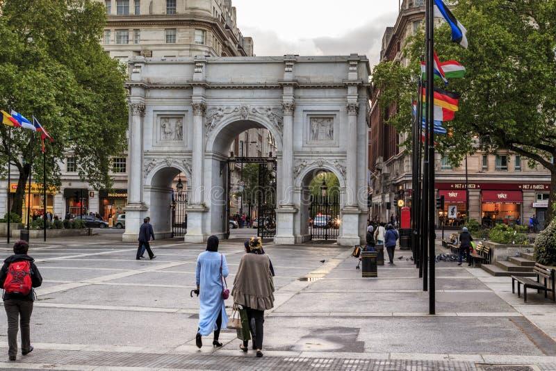 Marmorbogen, London lizenzfreie stockbilder