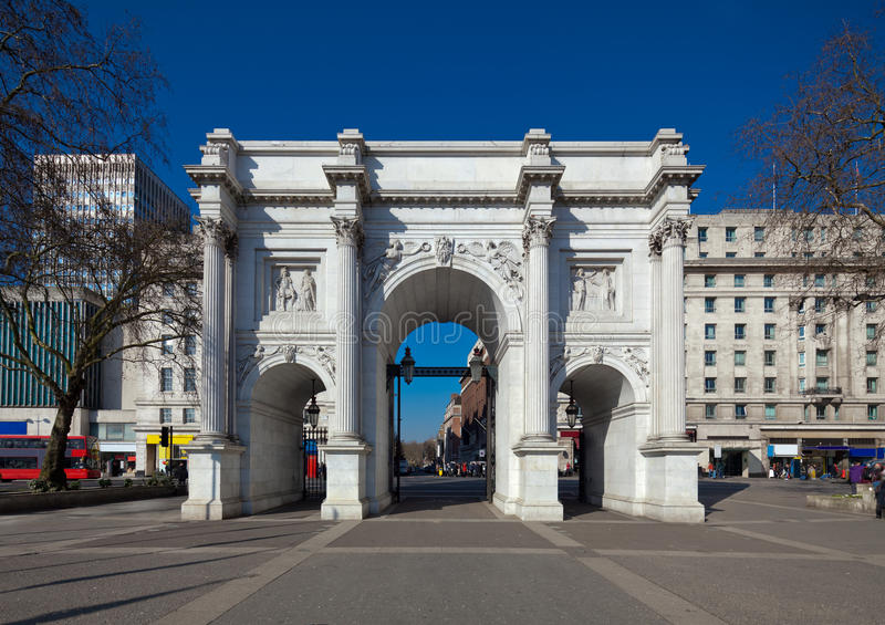 Marmorbogen, London stockbilder