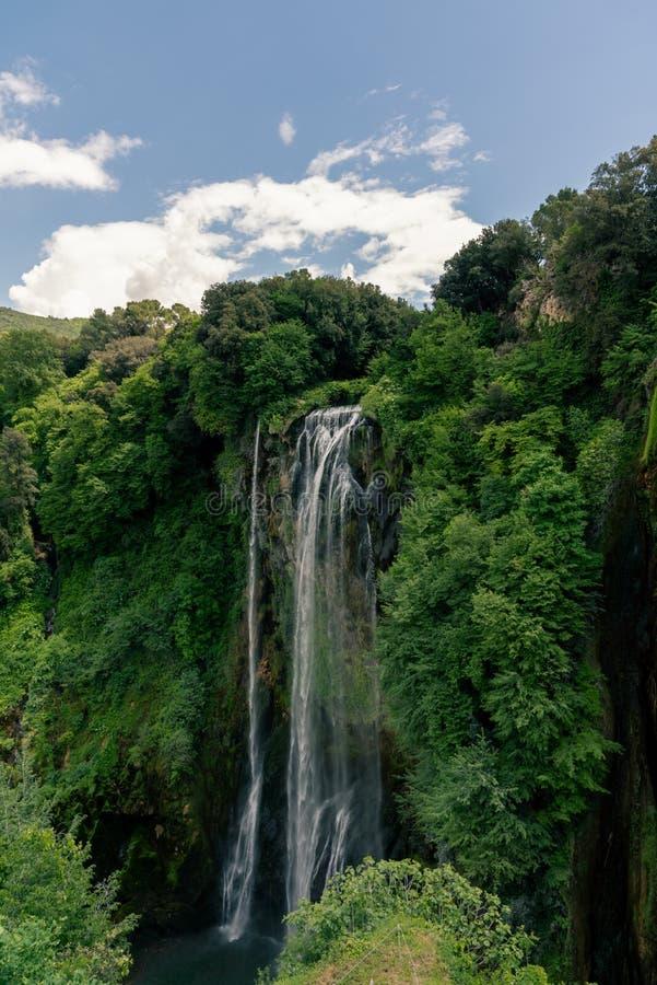 Marmore-F?lle, Cascata-delle Marmore, machte der gr??te Mann Wasserfall in der Welt, in Umbria Italy stockbild