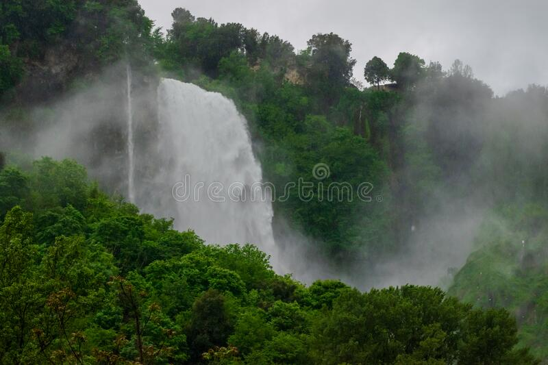 Marmore Falls, Waterfall in Italy, Province of Terni, Umbria. Marmore Falls, Waterfall in Italy, Province of Terni stock photo