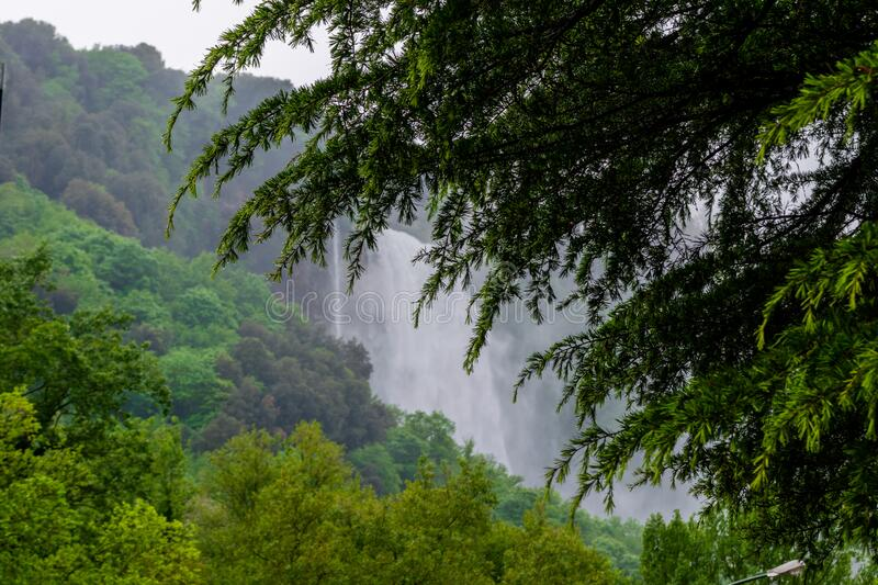 Marmore Falls, Waterfall in Italy, Province of Terni, Umbria. Marmore Falls, Waterfall in Italy, Province of Terni royalty free stock images
