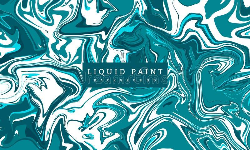 Marmorear líquido da pintura Aplicável para a tampa do projeto, a apresentação, o convite, o inseto, o cartaz e o cartão, empacot ilustração royalty free