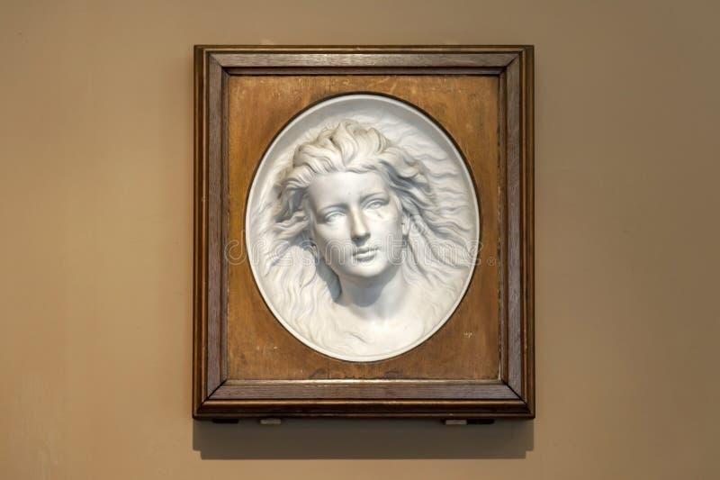 Marmorentlastung betitelte die Artist's-Tochter durch die Westmacott-Familie bei Victoria und Albert Museum stockbild