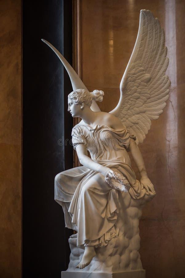 Marmorera ängeln av frihetstatyn royaltyfri fotografi