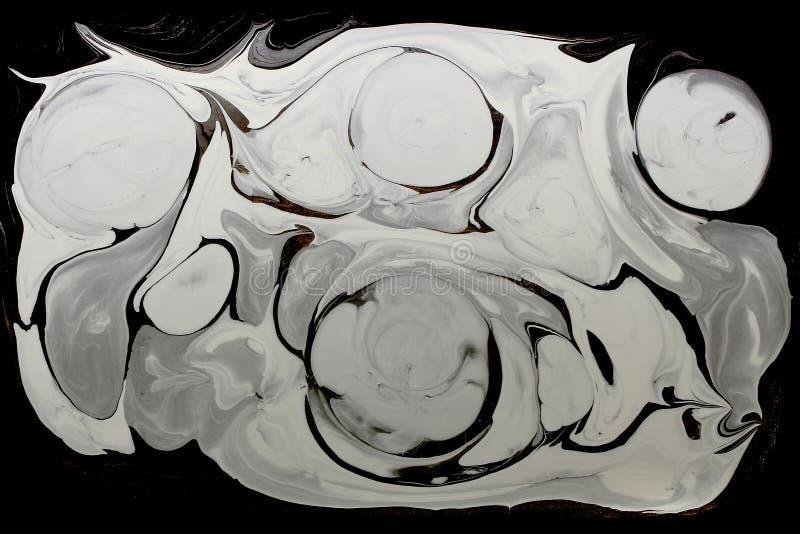 Marmorera abstrakt bakgrund för färgpulvermodelltextur Svartvit signal arkivbilder