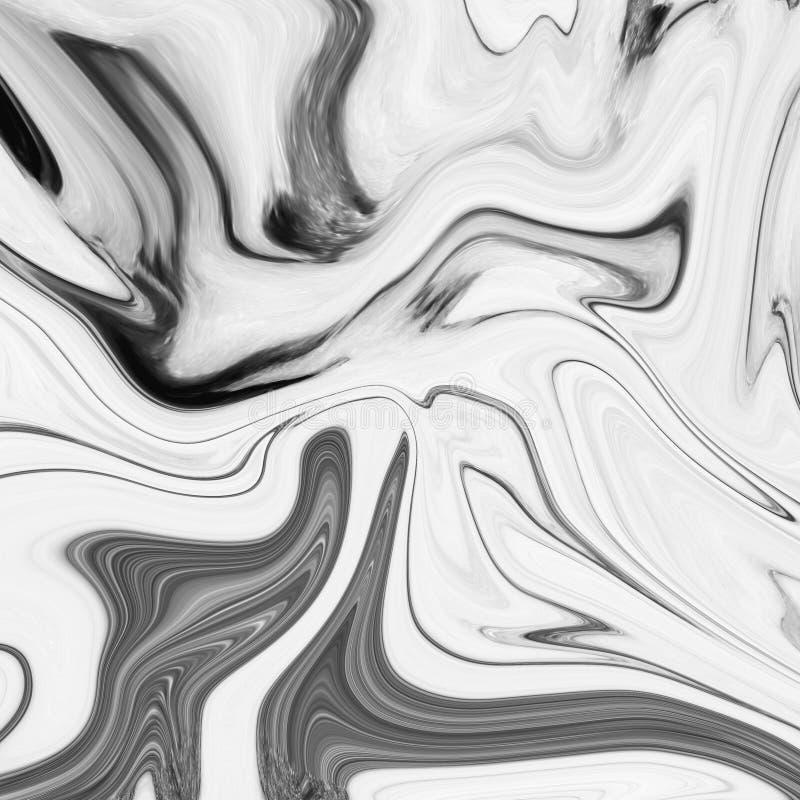 Marmorera svartvita grå färger för abstrakt naturlig marmor för design royaltyfria bilder
