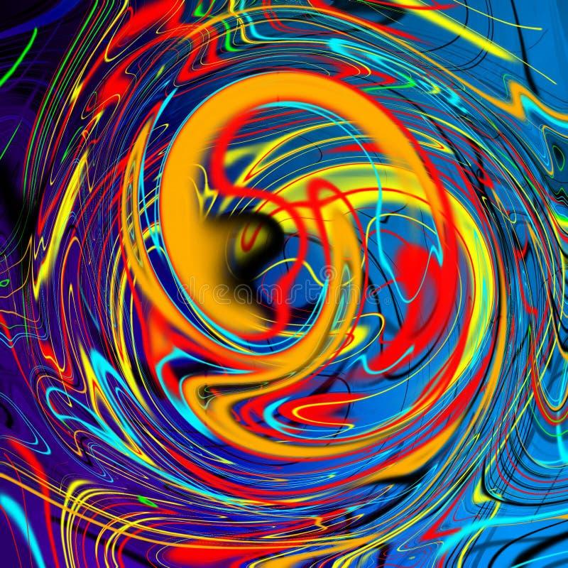 Marmorera vätskeabstrakt bakgrund med strimmor för oljamålning vektor illustrationer