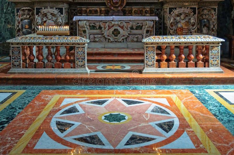 Marmorgolv - Palermo royaltyfri fotografi