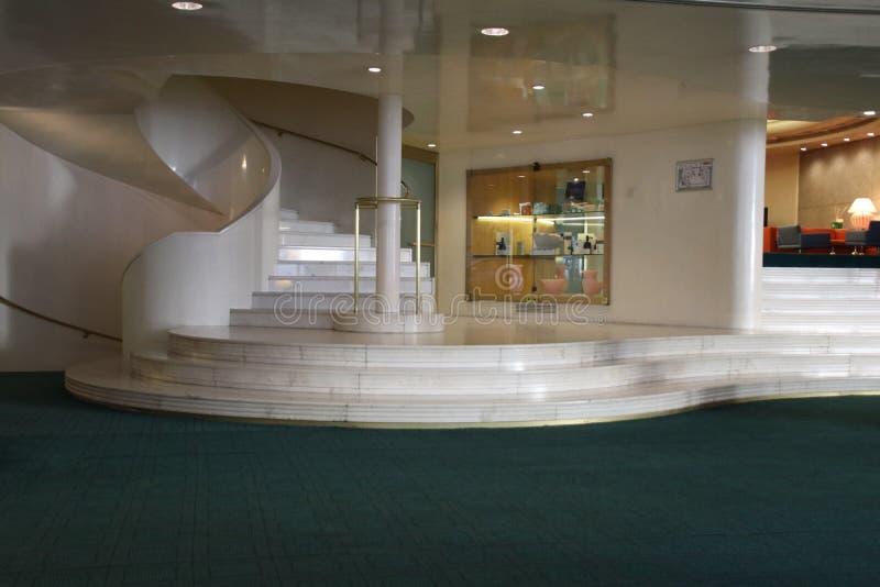 Marmorhotel-Lobby in Italien stockfotos
