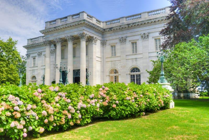 Marmorhuset - Newport, Rhode Island arkivbilder