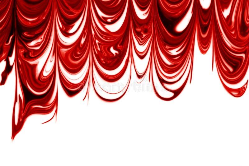 Marmorizzazione bianca & di colore rosso immagine stock