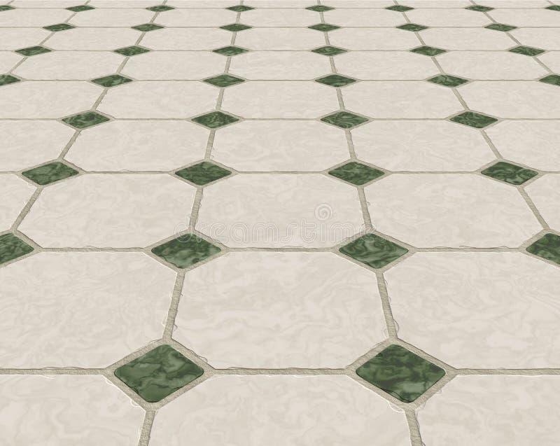 Marmorizzi il pavimento coperto di tegoli illustrazione vettoriale
