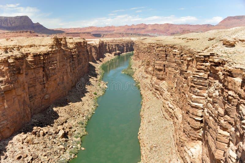 Marmorkanjon, Coloradofloden i Arizona arkivbilder