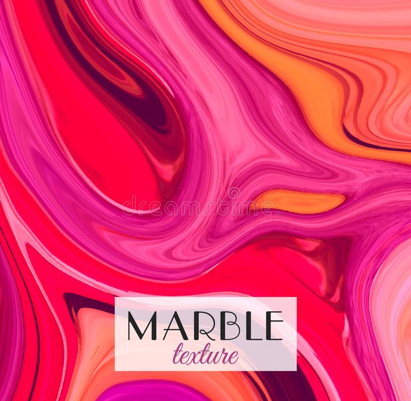 marmorn Kann als Hintergrund verwendet werden Künstlerischer abstrakter bunter Hintergrund Spritzen des Lackes Bunte Flüssigkeit  lizenzfreie abbildung