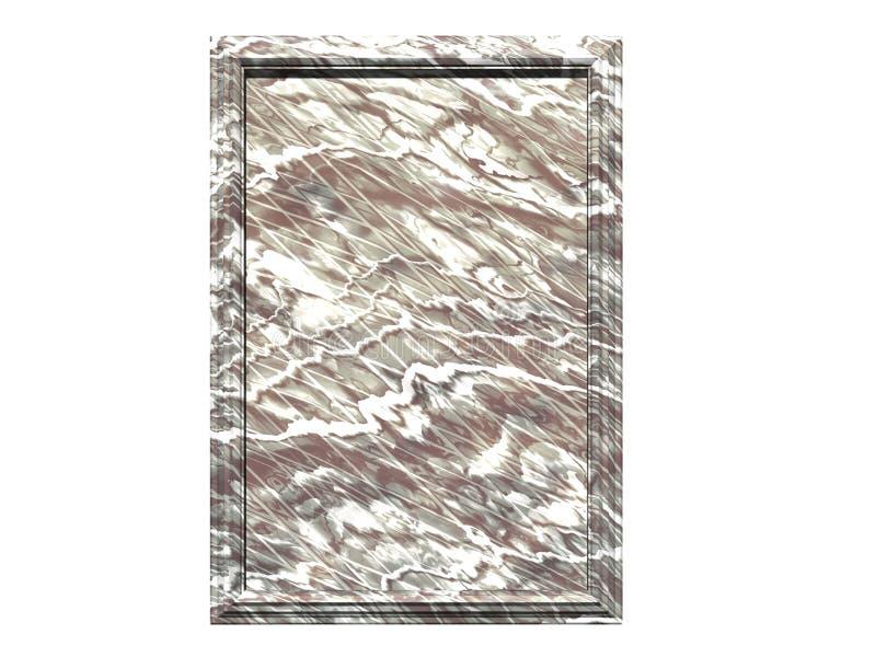 Marmorplakette lizenzfreie abbildung