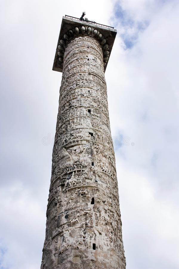 Marmorsäule von Marcus Aurelius stockfotografie