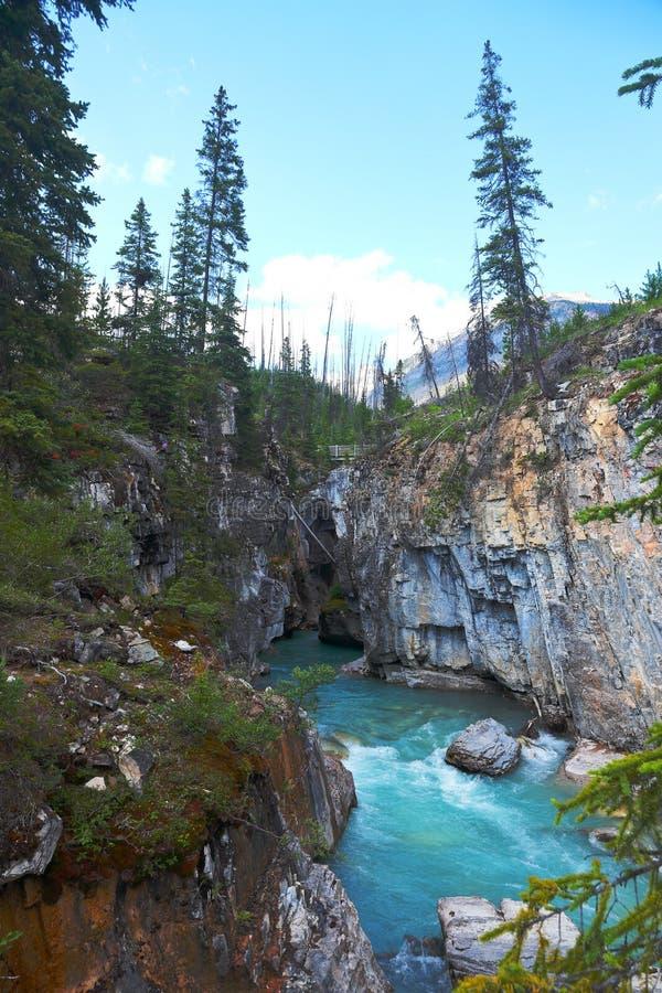Marmorschlucht - BC- Kanada lizenzfreies stockbild