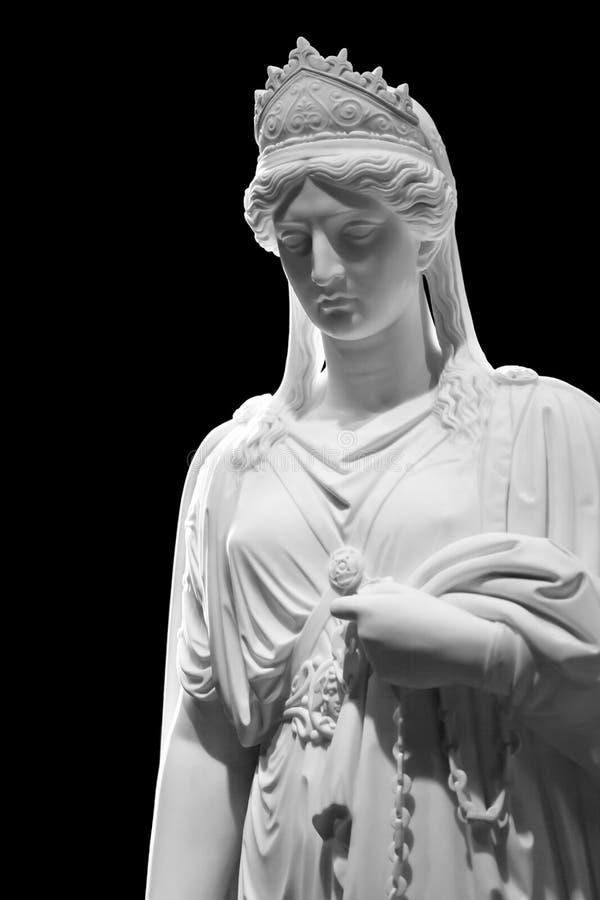 Marmorskulptur av drottningen Zenobia royaltyfri foto