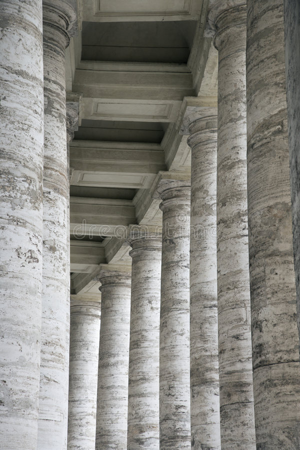 Marmorspalten in Rom, Italien. stockfotos
