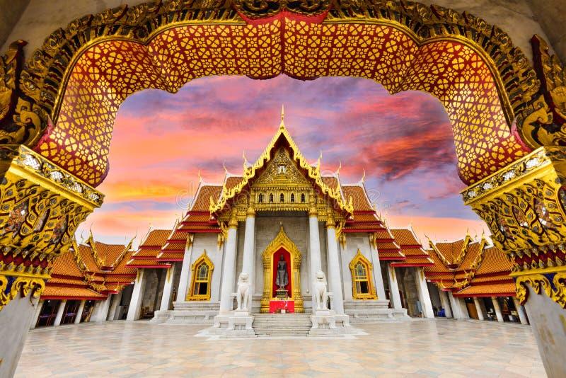 Marmortempel av Bangkok arkivfoto
