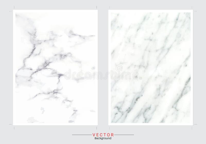 Marmortexturbakgrund, fastställd mall för vektor royaltyfri illustrationer