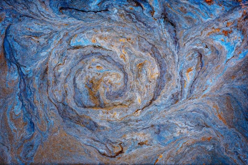 Marmoryzacji farby turquise abstrakta fali watercolour Złoto marmurowy atrament zdjęcia royalty free