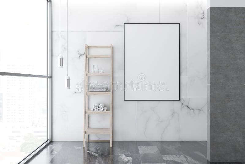 Marmur łazienki pusty wnętrze, plakat ilustracji