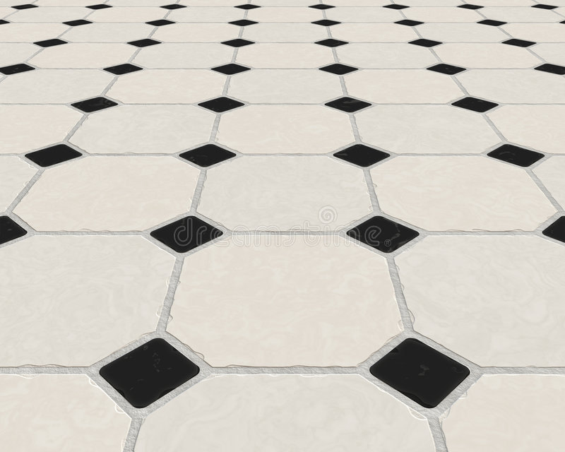 marmur taflować podłodze płytki royalty ilustracja