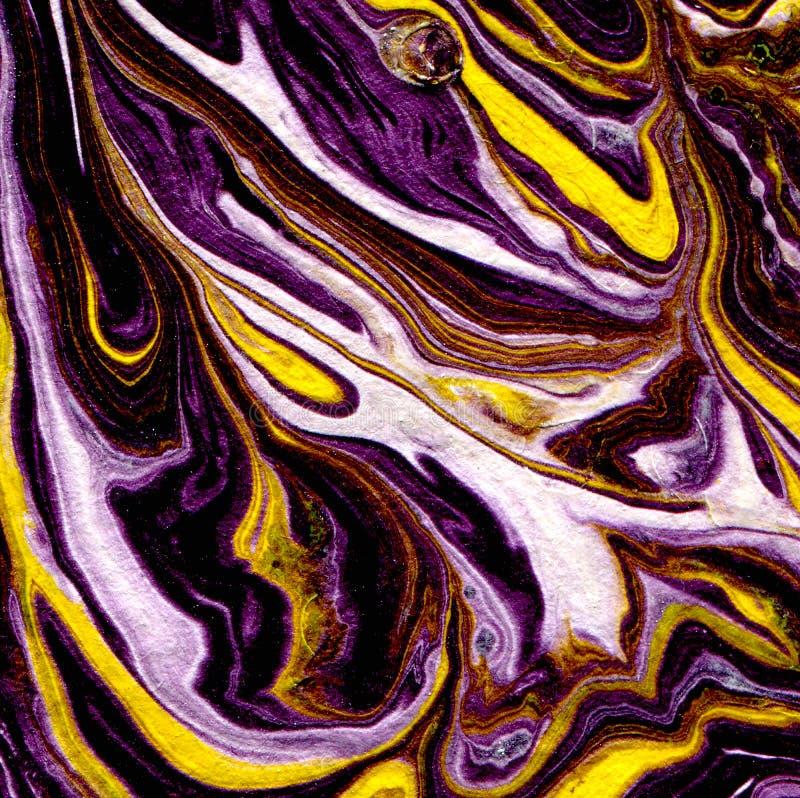 Marmurkowata papierowa tekstura Handmade tło Pozaziemscy kolory Marmurowy tło ilustracja wektor
