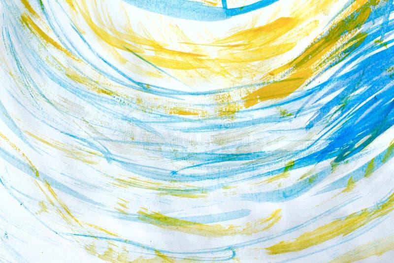 Marmurkowaty błękitny abstrakcjonistyczny tło Ciecza marmuru wzór obraz stock
