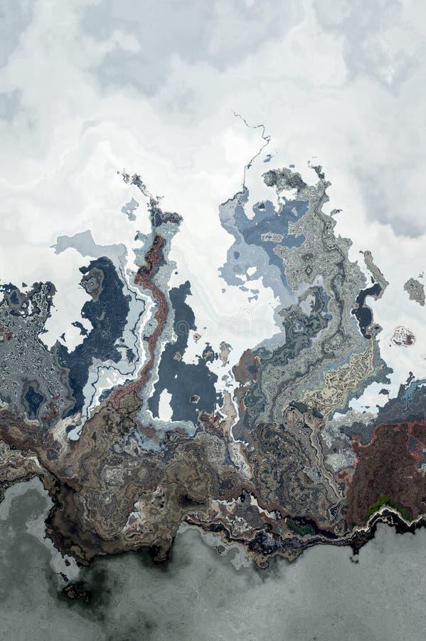Marmurkowaty Textured Cyfrowego tło ilustracji